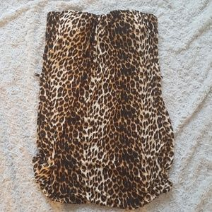 Leopard strapless tube top NWOT